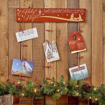 Christian Christmas card holder