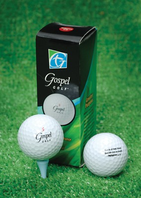 Gospel Golf Balls: Philippians 4:13, Set of 3   -