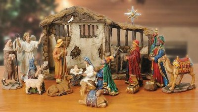 Real-Life Nativity Ornament Collection   -