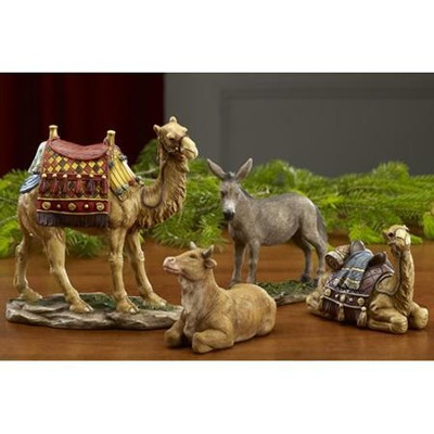 Real Life Nativity 7 Size Set, Animals 4 Pieces   -