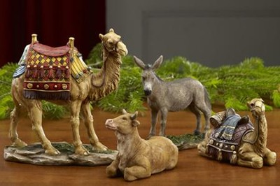 Animals for Real Life Nativity, 10 inch Set, 4 Pieces  -