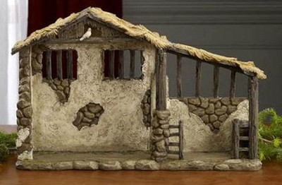 Lighted Stable for 7-inch Real-Life Nativity Set   -