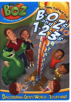Boz the Green Bear Next Door: Thank you God for BOZs  and 123s, DVD  -