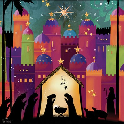 Silhouette Nativity Advent Calendar   -