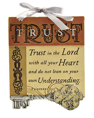 Trust In the Lord Plaque, Key  -