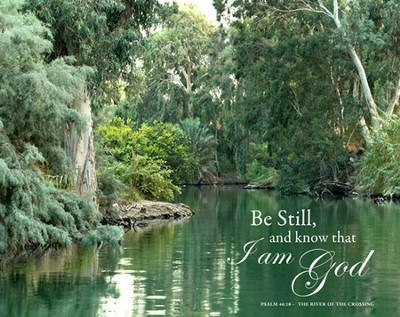 Be Still and Know That I am God Psalm 46:10, Canvas Wall Art   -