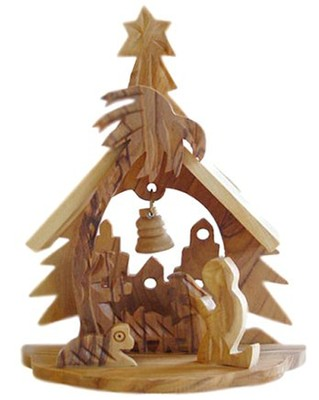 The House of Christmas, Olive Wood Nativity Figurine   -
