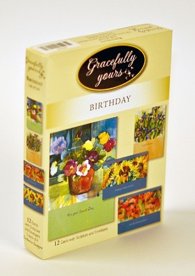 Gift of God Birthday Cards, Box of 12   -     By: Anneleine Beukenkamp