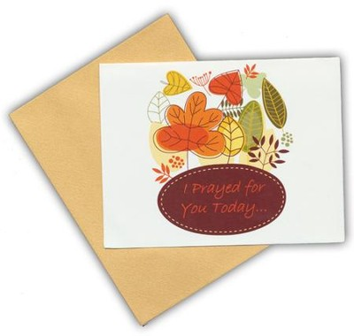Blank Notecards, Autumn Leaves, Pack of 10  -