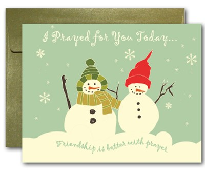 Blank Notecards, Snow Friends, Pack of 10  -