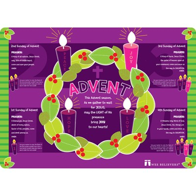 Advent Placemat  -