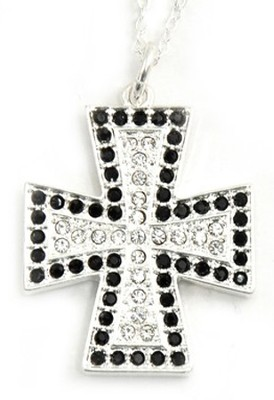 Cross with Crystals Pendant   -