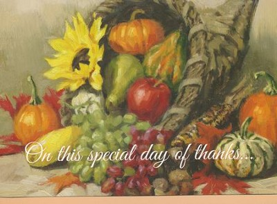 Great Thanks, Thanksgiving Cards, Box of 12   -     By: Bernadette Deming