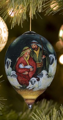 Magical Nativity, Ne'Qwa Art Ornament, Petite   -     By: Susan Winget