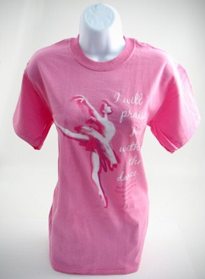 Praise Dancing Shirt, Pink  Large (42-44)  -