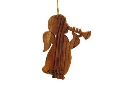 Angel Olivewood Ornament  -