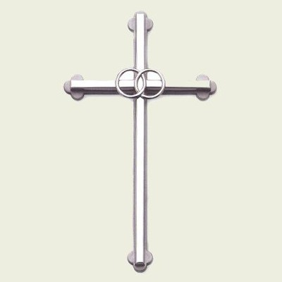 Wedding Wall Cross; Silver   -