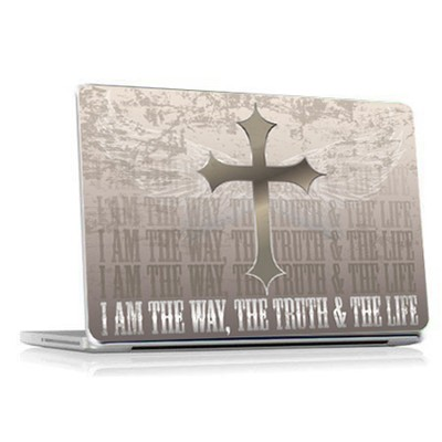 I Am the Way, The Truth and the Life Vinyl Fabric Laptop Cover  -
