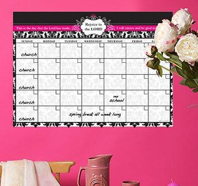Rejoice in the Lord, Vinyl Fabric Wall Calendar  -