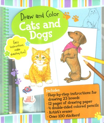 Draw and Color Cats and Dogs   -