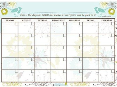 Birds of the Air, Vinyl Fabric Wall Calendar  -