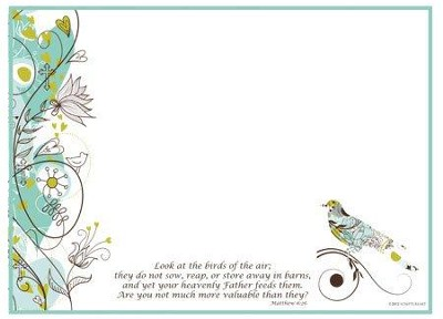 Birds of the Air, Vinyl Fabric Dry Erase Board  -