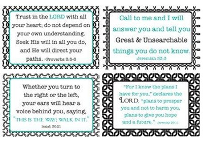God's Words of Care Verses Wall Cards, Pack of 4  -