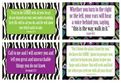 Paris Peacock God's Plan Wall Cards, Pack of 4   -