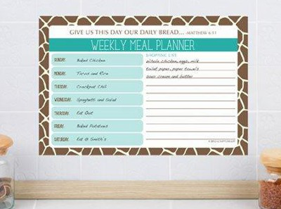 Give Us This Day Menu Planner  -