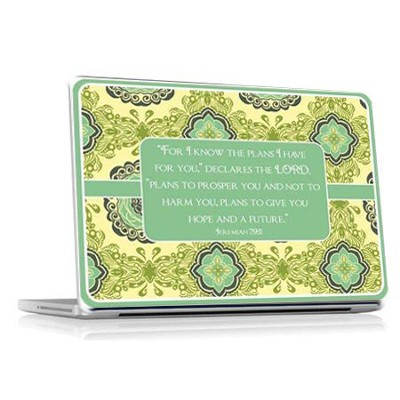 For I Know the Plans Vinyl Fabric Laptop Cover  -