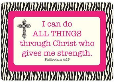 I Can Do All Things Through Christ Vinyl Fabric Laptop Cover  -