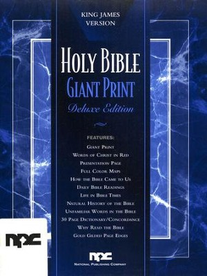 KJV Giant Print Genuine Leather, Black            -