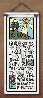Serenity Prayer Plaque  -