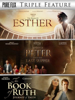 Pureflix Triple Feature: The Book of Esther, Apostle Peter & The Last Supper, and The Book of Ruth  -