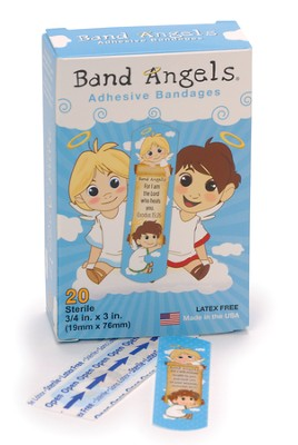 Band Angels, Healing Scripture Bandages, Blue   -