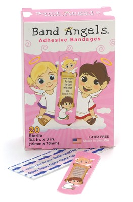 Band Angels, Healing Scripture Bandages, Pink   -