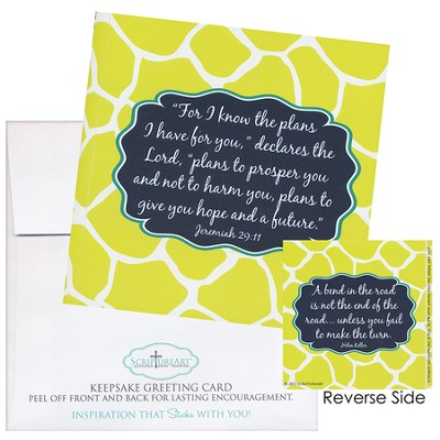 For I Know the Plans I Have Notecard Sticker  -