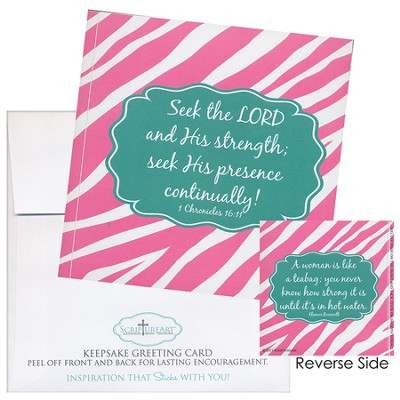 Seek the Lord and His Strength Notecard Sticker  -