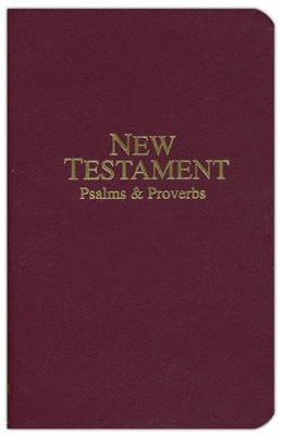 KJV Economy Pocket New Testament, Psalms & Proverbs   -