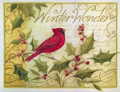 Holly and Cardinal Christmas Cards, Deluxe Box of 18  -     By: Susan Winget