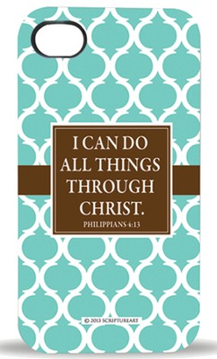 I Can Do All Things Through Christ, iPhone 4 Case  -