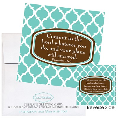 Commit To the Lord Whatever You Do Notecard Sticker  -