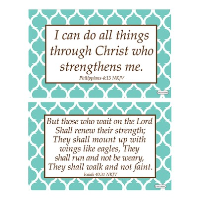 Strength Decals, Green and White, Pack of 2  -