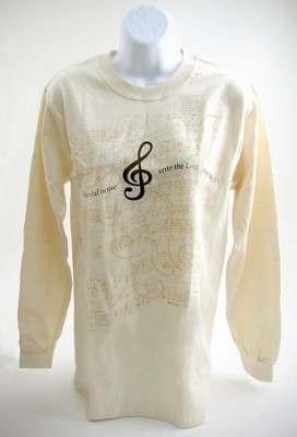 Make a Joyful Noise Long-sleeve Tee, Medium (38-40)  -