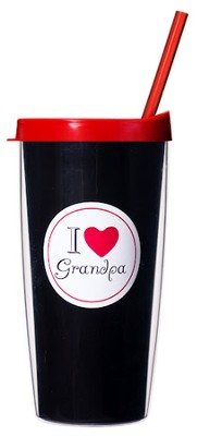 I Love Grandpa...Mug with Straw                       -