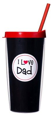 I Love Dad ...Mug with Straw                     -