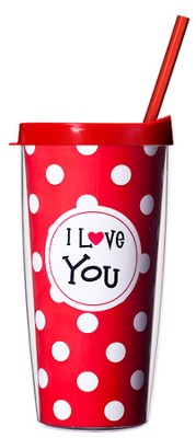 I Love You...Mug with Straw                     -