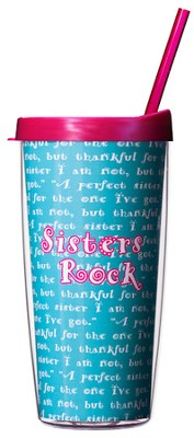 Sisters Rock...Mug with Straw                       -