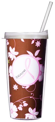 Pink Ribbon Survivor...Mug with Straw                           -