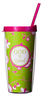 God is Good...Mug with Straw                     -
